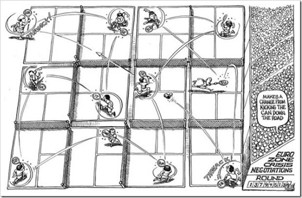 KAL's cartoon- 책임 떠넘기기만 관심 있는 유로존