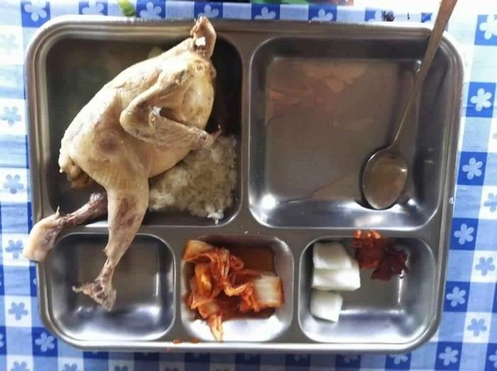 초복날, 열심히 달리는 예비군훈련 점심의 닭