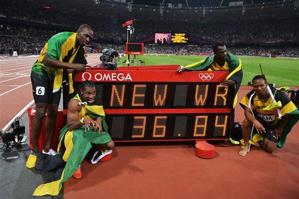 [런던 올림픽 육상경기] 남자 400mR 세계기록