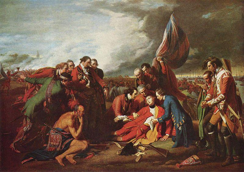 [회화]웨스트, 울프 장군의 죽음, 1770
