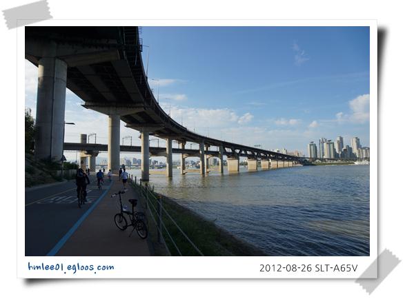8월에 혼자하는 서울유람 - 5. 한강자전거 라이딩