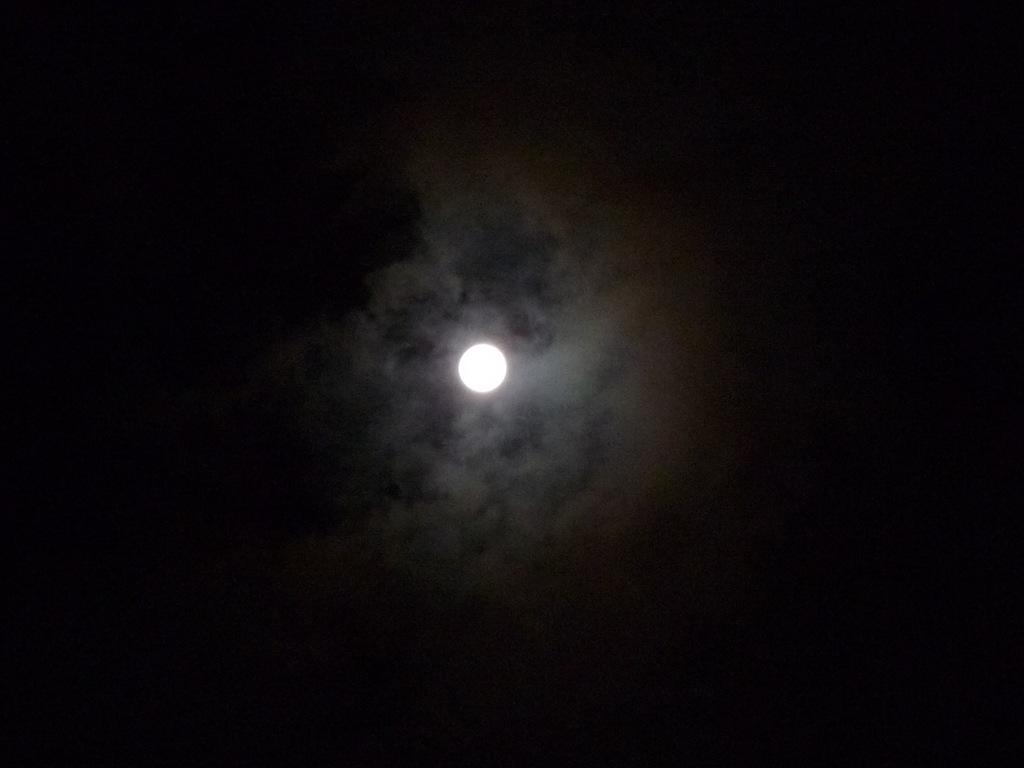 보름을 하루 앞두고 눈부시게 밝은 달