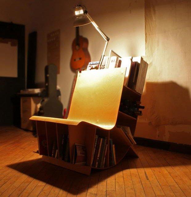 좁은 방에 어울리는 책꽂이 의자