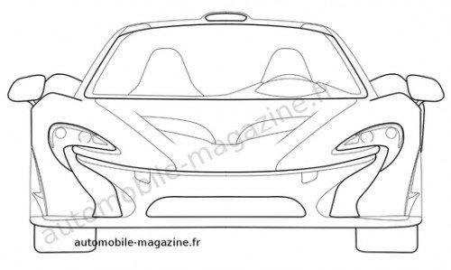 맥라렌 P1 양산형 추정 특허 디자인