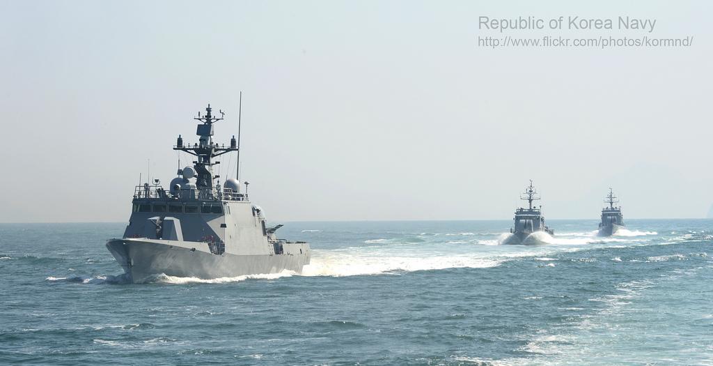 [사진] 서해에서 해상경계 훈련 중인 우리 해군