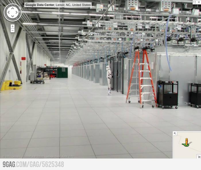 노스 캐롤라이나 주에 있는 구글 데이터 센터의 보안