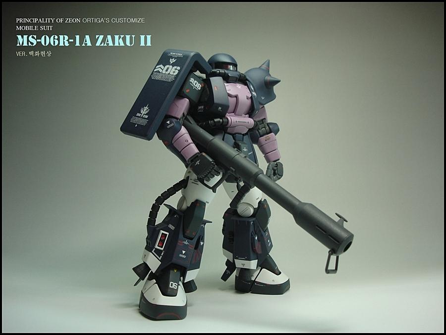 14)[마감제작]MG자쿠2 2.0 MS-06R-1A형 검은 ..