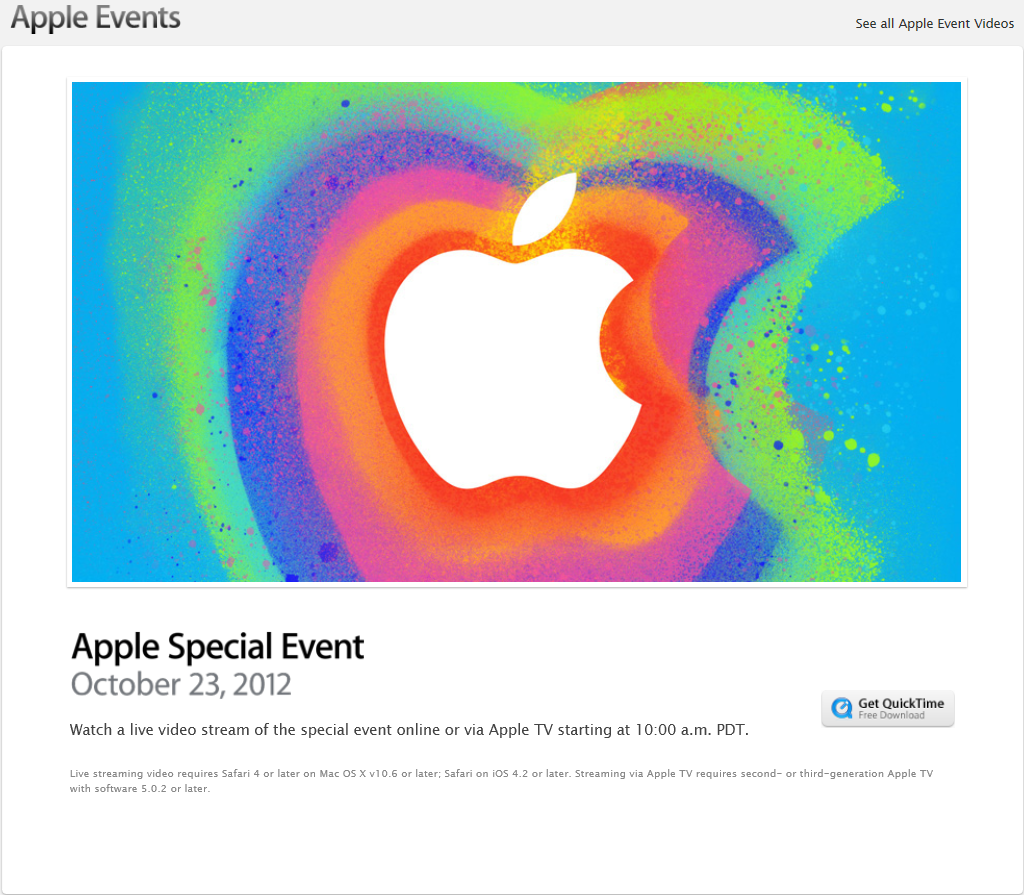 Apple Special Event (10월 24일 새벽 2시)