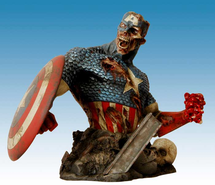 Marvel Zombies Colonel America bust!  Limi..