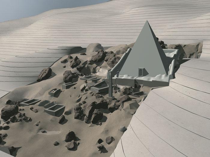 파라오 네브케페르레 인테프(17왕조)의 피라미드