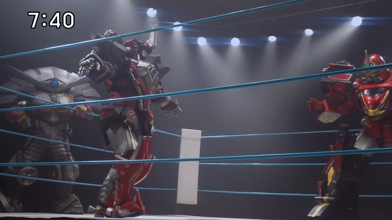 고버스터즈 38화 : 로봇 레슬링!?