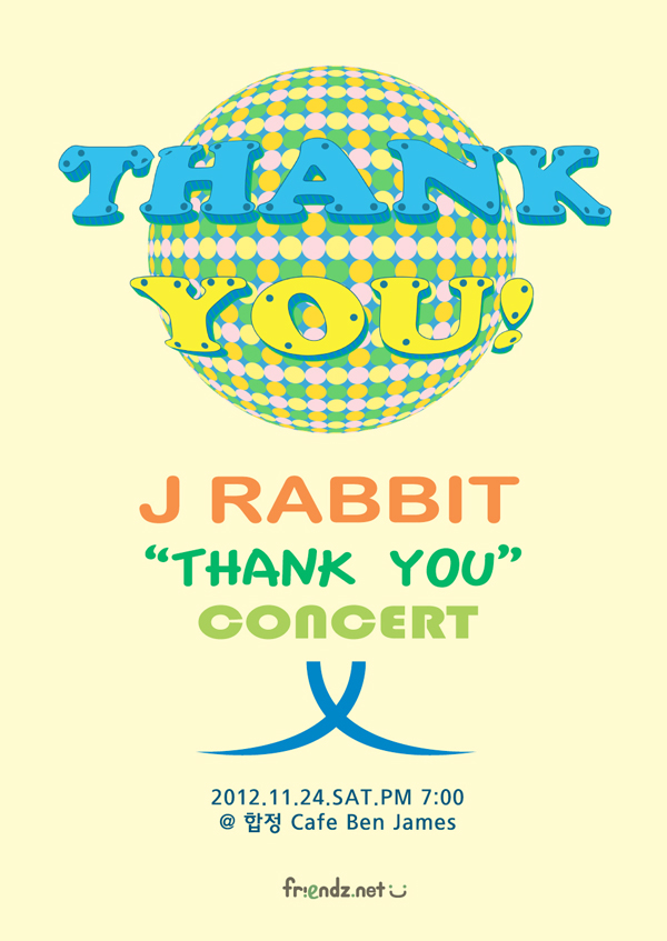 J Rabbit Thank You Concert Poster
