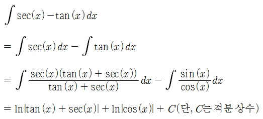 [Common Mathematics] sec(x)-tan(x..
