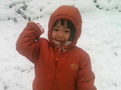 눈이 펑펑 내렸으니까 나가 놀아야지!