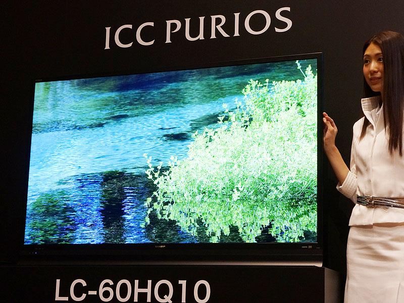 샤프 4K TV ICC PURIOS 발표 수주생산 60인치 262..