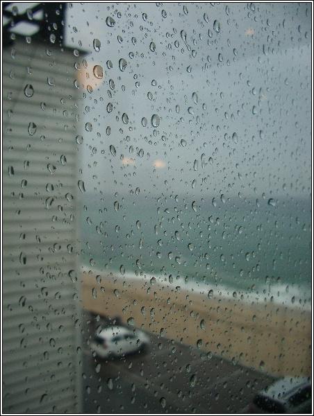 비 오는 저녁 풍경