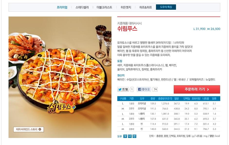 늦을 뻔한 50% 쿠폰 사용 - 도미노 쉬림푸스 피자