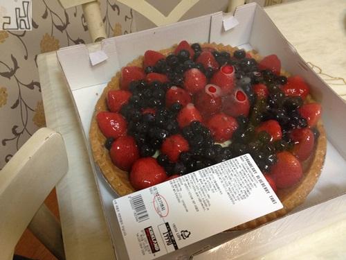 오늘 점심 - 딸기 블루베리 파이