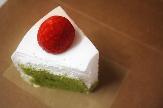 녹차(말차) 딸기 쉬폰케익