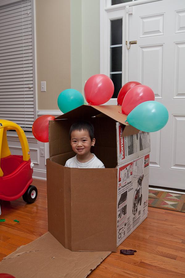 박스로 만든 집...