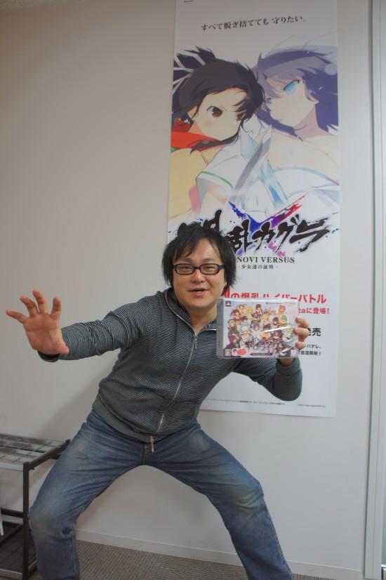 게임 '섬란카구라' 시리즈의 '타카키 켄이치로' 프로듀..