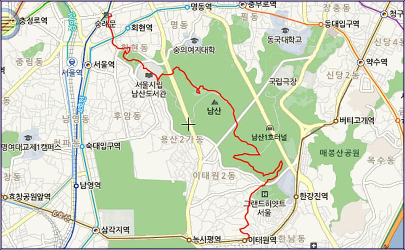 13_0325 이태원 역에서 남산 공원 올라 팔각정 넘어 ..