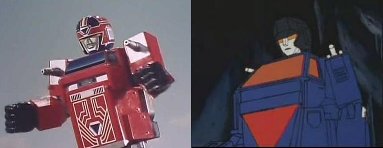 특촬물과 애니판의 트레일러 로봇!!