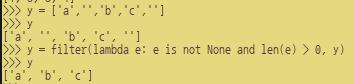 [Python] 목록의 필터링 적용