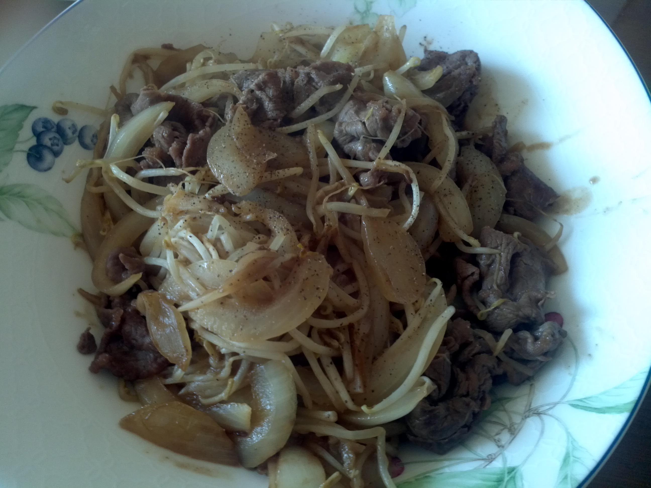 [초간단] 쇠고기 콩나물 볶음