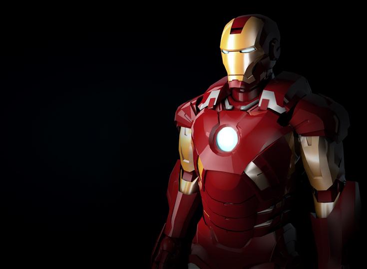 Iron man texture practice