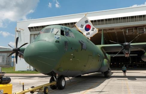 3년전 도입소식을 알린 한국공군용 C-130J-30 수송기..