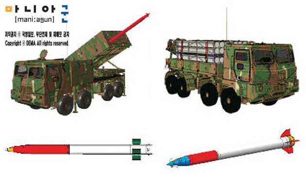 육군의 차세대 다련장 다연장 로켓 천무 개발 발사 ..
