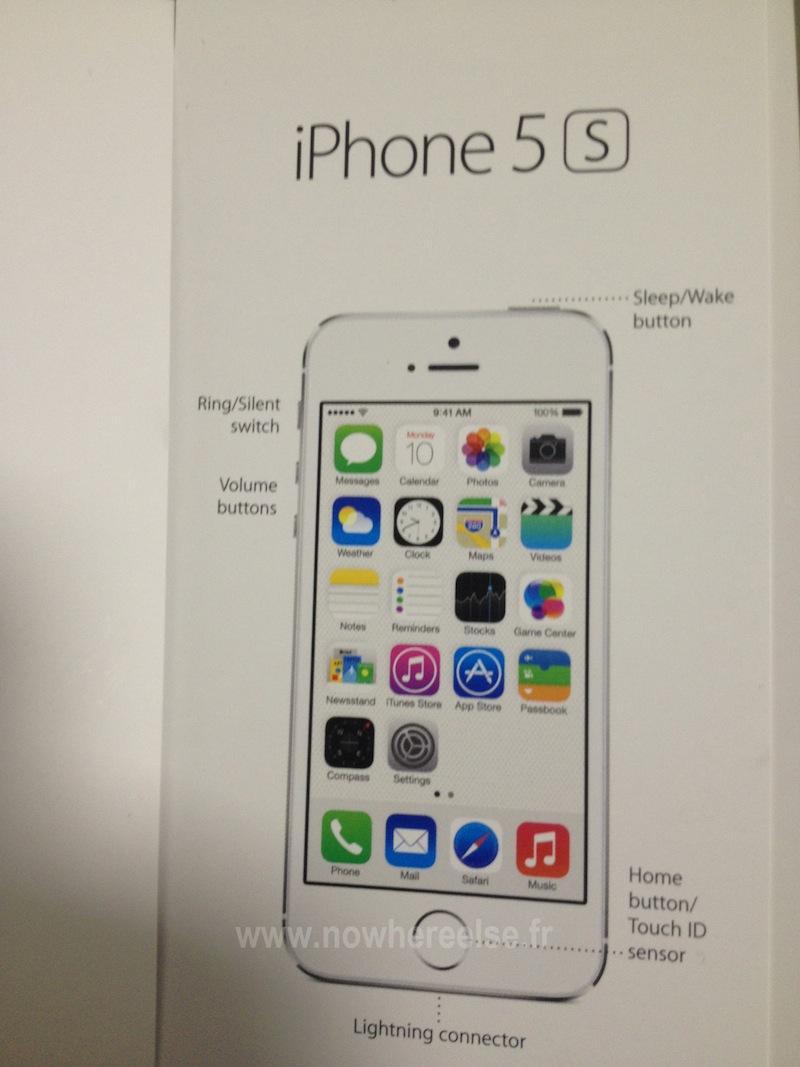 아이폰5S 유저가이드 유출됐습니다