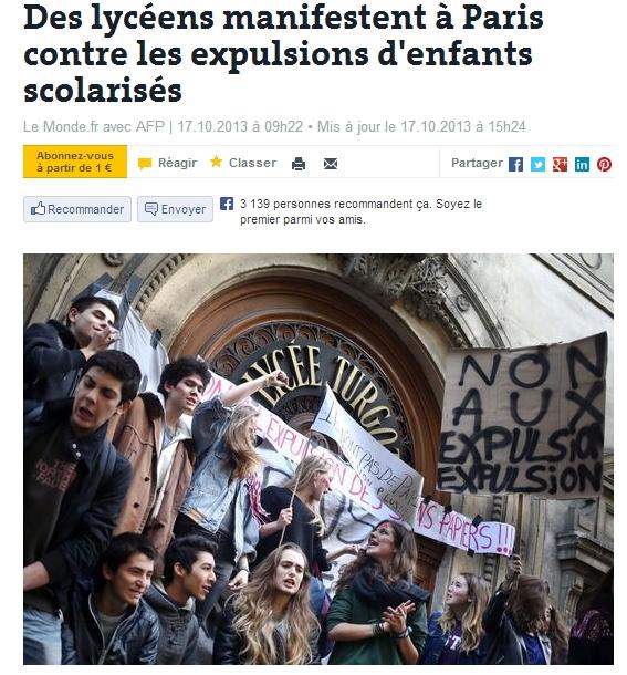 프랑스,고교생의 시위가 대통령을 움직이다!