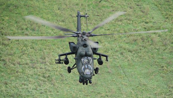 2대의 Mi-35M가 남부군관구 로스토프 공군기지에 ..