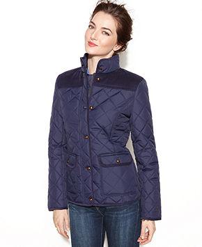 엄니선물 tommy hilfiger quilted jacket