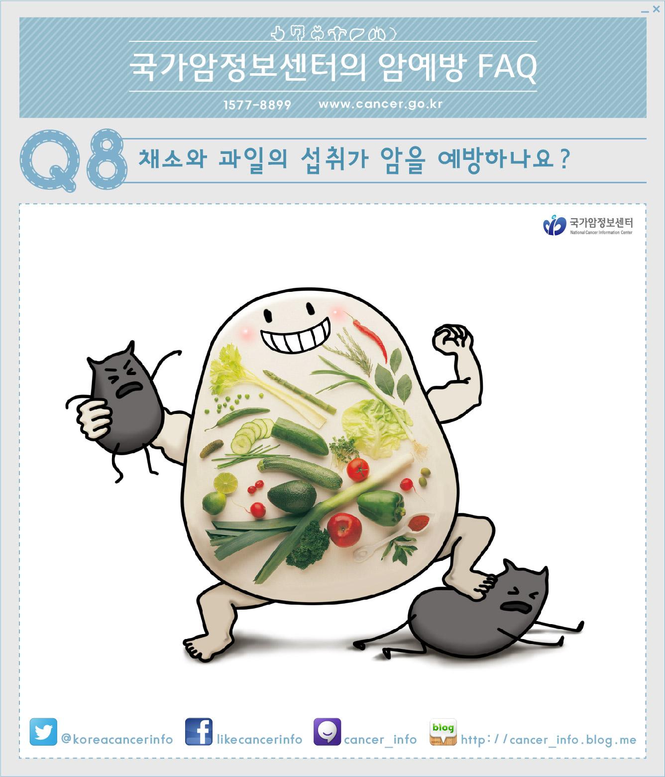 [국가암정보센터 암예방 FAQ] 8. 채소와 과일의 ..
