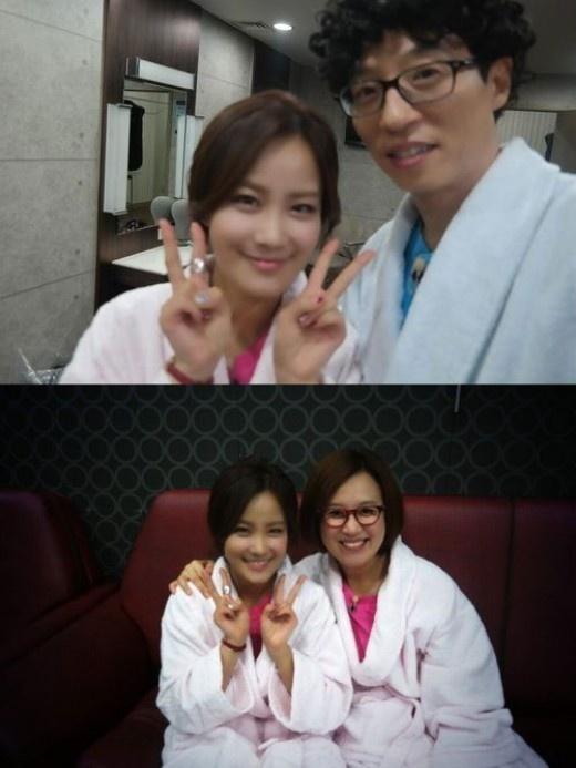 김지민, 유재석-박미선과 함께