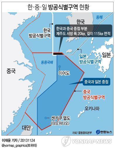 중국 방공식별구역 선포, 이어도를 사수하라