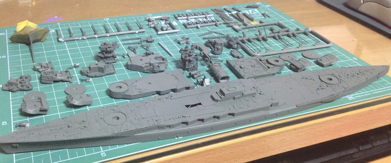 함대 콜렉션 워터라인 시리즈 1/700 나가토 제작기 - 6 -..