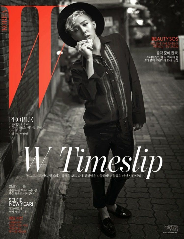 G-DRAGON FOR W KOREA MAGAZINE JANUARY 201..