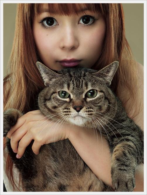 나카가와 쇼코, 새 앨범 쟈켓 사진에서 애완 고양이 ..
