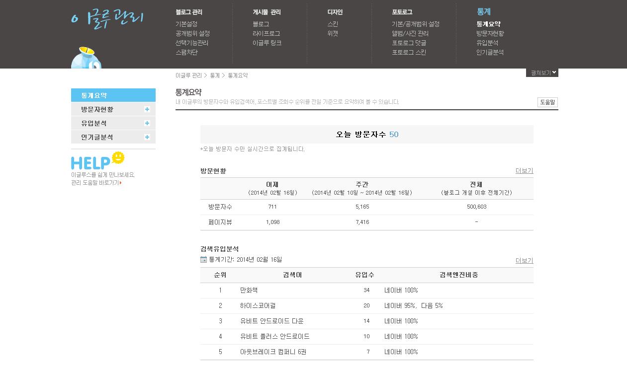 블로그 방문객 50만 돌파!!