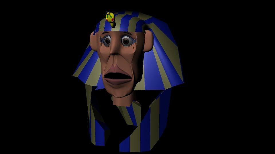 MAYA 창작 - 현실적인 얼굴의 파라오 Pharaoh, ..