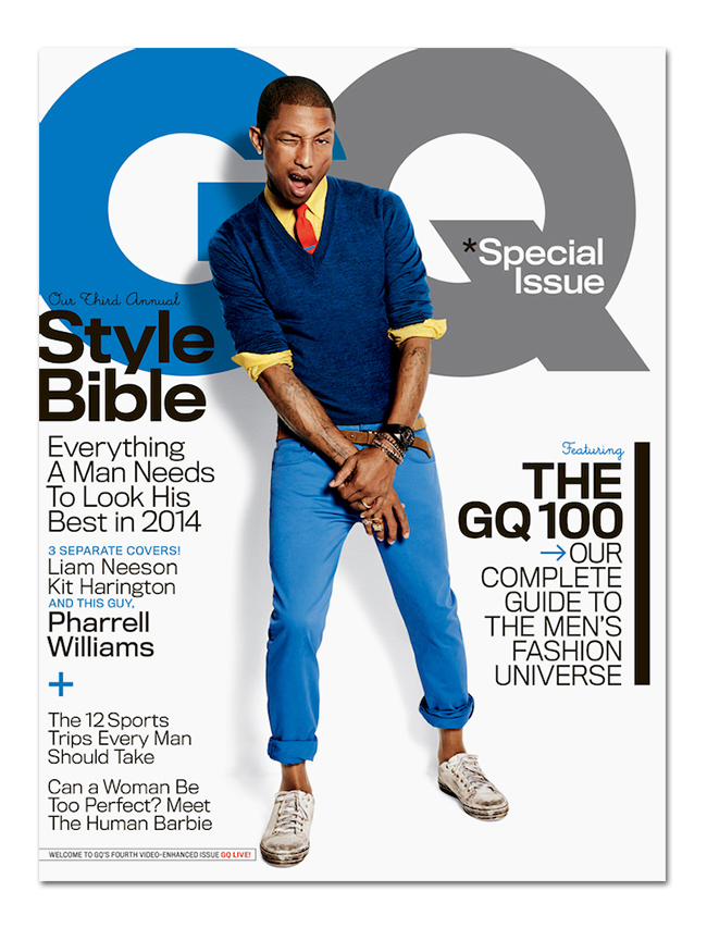 - Pharrell Covers GQ's 2014 April Issue