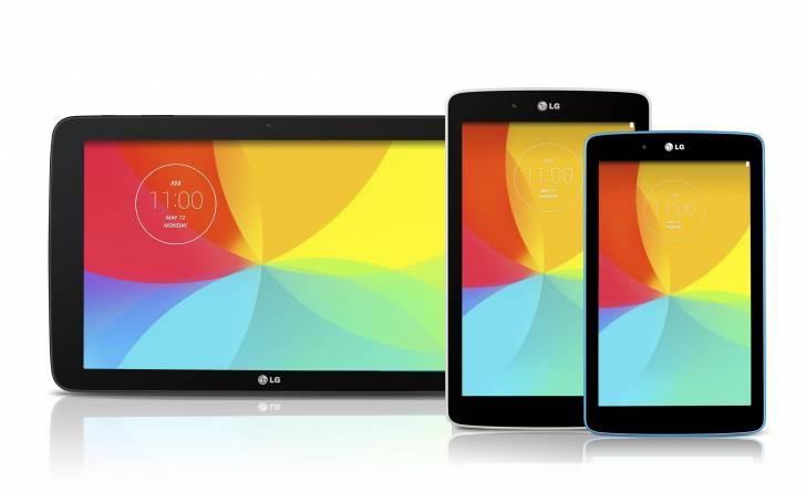 LG G패드 2세대 7, 8, 10인치 3가지로 발표