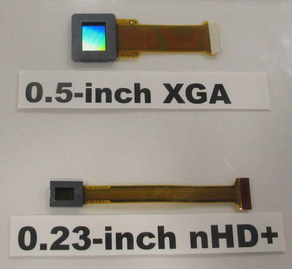 소니, 0.23인치 OLED 패널 발표
