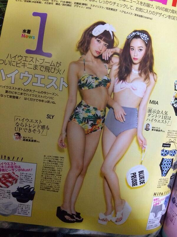일본에서는 하이 웨이스트 수영복이 인기?