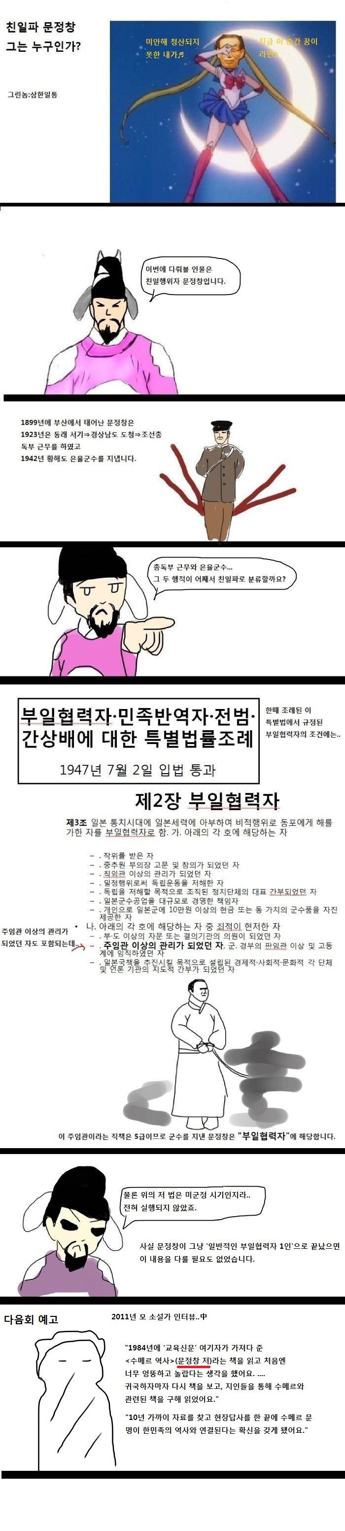 본격 교육만화]친일파 문정창 그는 누구인가?