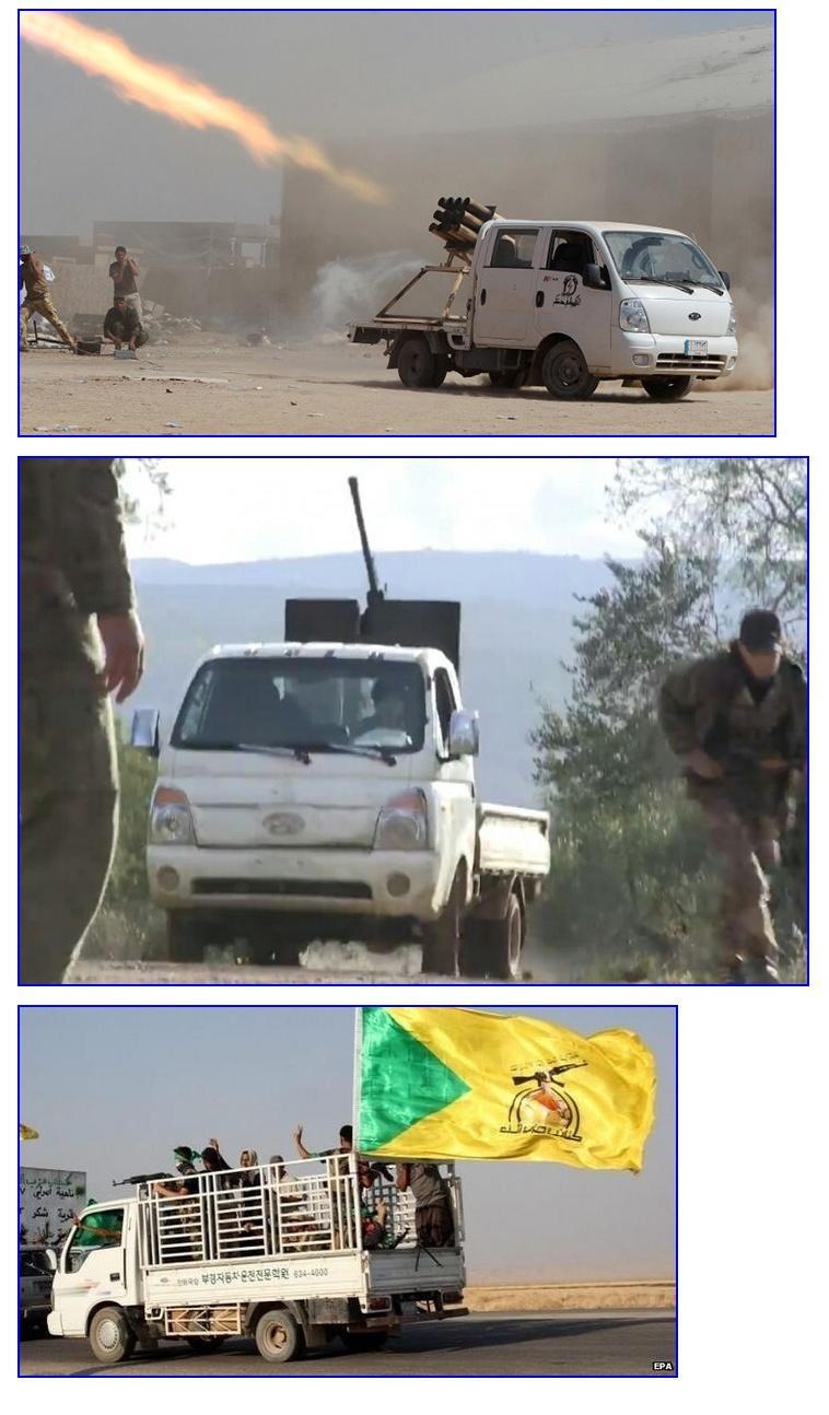 이슬람 반군 군용 차량